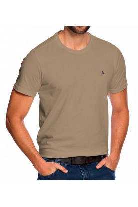 Camiseta Casual Básica Bege Areia